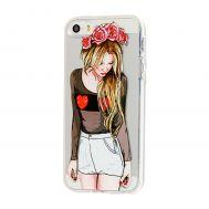 """Чехол для iPhone 5 Lovely """"красотка"""""""