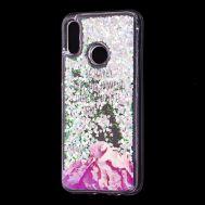 "Чехол для Huawei P Smart 2019 Блестки вода Fashion ""Happy"""