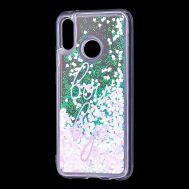 """Чехол для Huawei P20 Lite Блестки вода светло-розовый """"boy bye"""""""