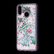 """Чехол для Huawei P20 Lite Блестки вода светло-розовый """"маленькие единороги"""""""