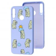 Чехол для Huawei P40 Lite E Wave Fancy cute bears / light purple