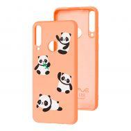 Чехол для Huawei Y6p Wave Fancy panda / peach