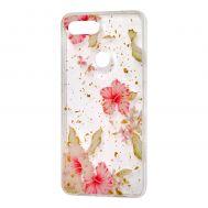 "Чехол для Xiaomi Mi 8 Lite Flowers Confetti ""китайская роза"""