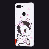 """Чехол для Xiaomi Mi 8 Lite """"черно-белый единорог"""""""