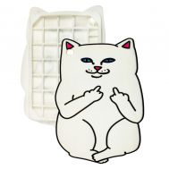 3D чехол для iPad mini 4 Cat Fakk Ripndip белый