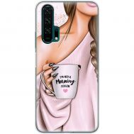 Чехол для Huawei Honor 20 Pro Mixcase девушка с кофе
