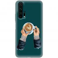 Чехол для Huawei Honor 20 Pro Mixcase кофе с сердечком