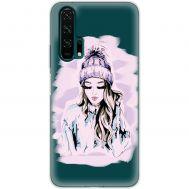 Чехол для Huawei Honor 20 Pro Mixcase девушка в шапке