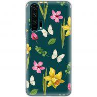 Чехол для Huawei Honor 20 Pro Mixcase бабочки и цветы дизайн 2