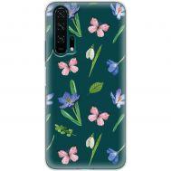 Чехол для Huawei Honor 20 Pro Mixcase бабочки и цветы дизайн 3