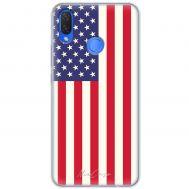 Чехол для Huawei P Smart Plus Mixcase флаг америки дизайн 1