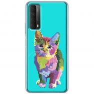 Чехол для Huawei P Smart 2021 / Y7A Mixcase цветной котик