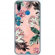 Чехол для Huawei P20 Lite Mixcase цветы и листья