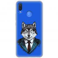 Чехол для Huawei P Smart Plus Mixcase волк бос