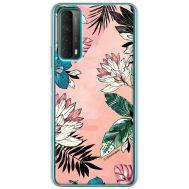 Чехол для Huawei P Smart 2021 / Y7A Mixcase цветы и листья