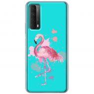 Чехол для Huawei P Smart 2021 / Y7A Mixcase фламинго