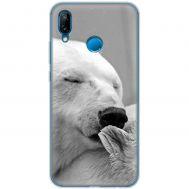 Чехол для Huawei P20 Lite Mixcase белый медведь