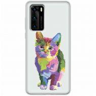 Чехол для Huawei P40 Mixcase цветной котик