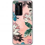Чехол для Huawei P40 Pro Mixcase цветы и листья
