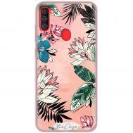 Чехол для Samsung Galaxy A11 / M11 Mixcase цветы и листья