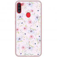 Чехол для Samsung Galaxy A11 / M11 Mixcase цветочки