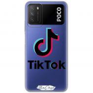 Чехол для Xiaomi Poco M3 Mixcase тик ток дизайн 8