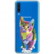 Чехол для Samsung Galaxy A50 (A505) Mixcase цветной котик