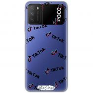 Чехол для Xiaomi Poco M3 Mixcase тик ток дизайн 6