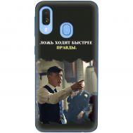 Чехол для Samsung Galaxy A40 (A405) острые козырьки дизайн 13