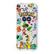 Чехол Pokemon GO для iPhone 5 прозрачные