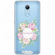 Чехол для Xiaomi Redmi 5 Mixcase стразы летние цветы