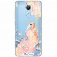 Чехол для Xiaomi Redmi 5 Mixcase стразы птица с цветами