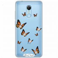 Чехол для Xiaomi Redmi 5 Mixcase стразы бабочки
