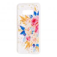 "Чехол для Samsung Galaxy S10e (G970) Flowers Confetti ""кустовая роза"""