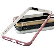 Металический бампер для iPhone 5 Evoque розовый