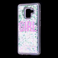 """Чехол для Samsung Galaxy A8 2018 (A530) вода светло-розовый """"босс"""""""
