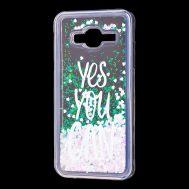 "Чехол для Samsung Galaxy J3 2016 (J320) вода светло-розовый ""yes you can"""