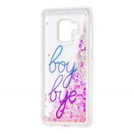 """Чехол для Samsung Galaxy A8 2018 (A530) вода светло-розовый """"boy bye"""""""