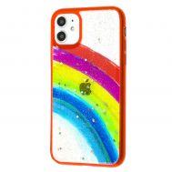 Чехол для iPhone 11 Colorful Rainbow красный