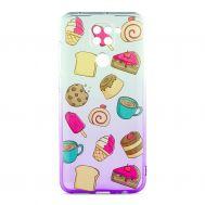 Чехол для Xiaomi Redmi Note 9 Wave Sweet white / purple / cake