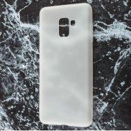 Чехол для Samsung Galaxy A8+ 2018 (A730) Soft case белый