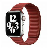Ремешок для Apple Watch 42/44mm Leather Link красный