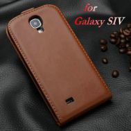Чехол книжка Samsung i9500 brown Galaxy S4