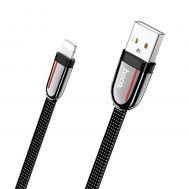 Кабель USB Hoco U74 Grand Lightning 2.4A 1.2m черный
