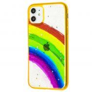Чехол для iPhone 11 Colorful Rainbow оранжевый