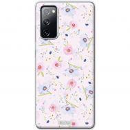Чехол для Samsung Galaxy S20 FE (G780) MixCase цветы на розовом