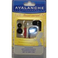 Наушники Avalanche MP3-384 red