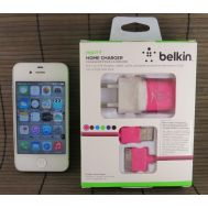 СЗУ Belkin 1A + USB iPhone 4 Pink