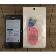 USB Data-cable to Micro Smile Pink (тех пак)