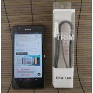 Data-cable USBFlat EKA 68 Micro Black
